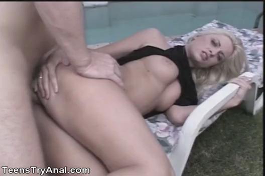 Teen Blonde  Bobbi Eden Anal Fucked