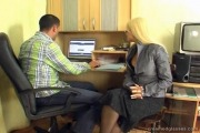 Blonde Secretary Nikki Group Sex