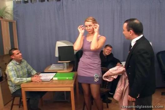 Secretary Martina Group Sex