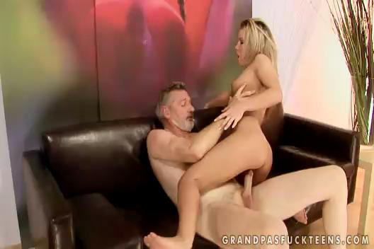 Old  Man Blonde Girl Bianca Arden Fucked