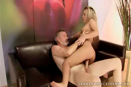 Old  Man Blonde Girl Bianca Arden Fucked