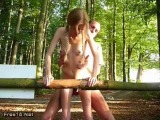 young skinny teen girl get fucked in the woods