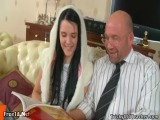 teen girl konnie and old teacher