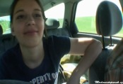 czech teen girl michala - public