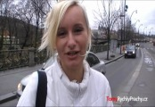 czech teen girl katka - public