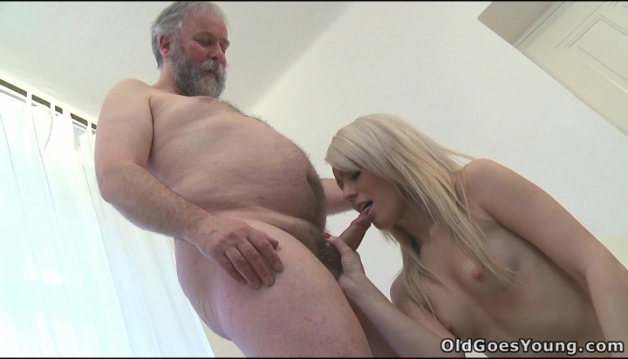 Oldman Young Girl - Nona, Blonde Russian