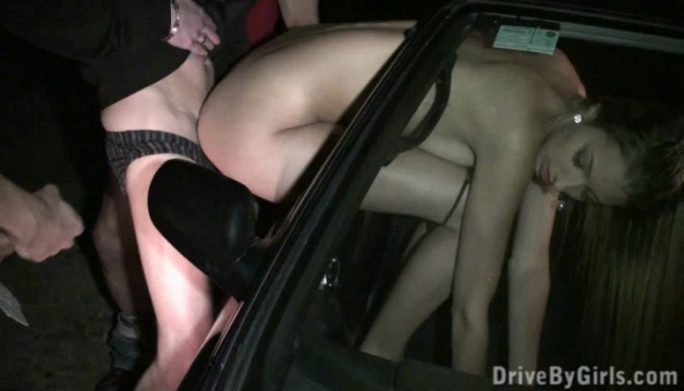 Kitty Jane - A beautuful model having sex through car window
