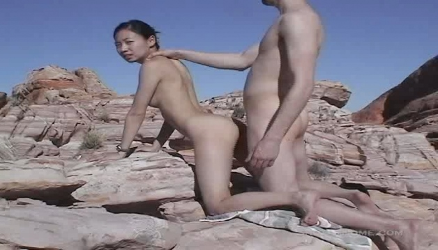 Amazing outdoor fuck with innocent 18 y.o. asian girl