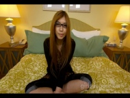 Japanese nerd first time in porn Cum on glasses