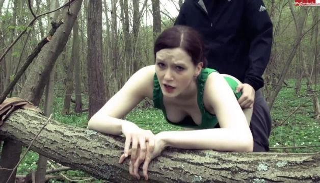 redhead teen fucked and facialed outdoor
