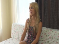 Hot petite teen blonde Carmen casting