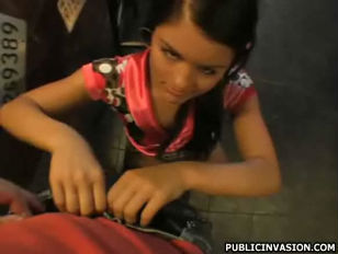 Cute teen whore Veronika fucked at the bike shop