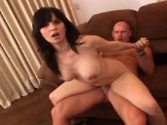 Hot Brunette Fucked And Spermed